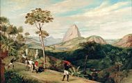 View of Sugarloaf Mountain from the Silvestre Road by Charles Landseer, c 1827 (Wikimedia Commons)