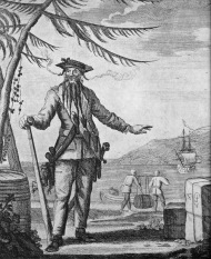 Edward Teach, a pirate (Wikimedia Commons)